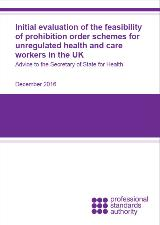 Feasibility of Prohibitions Order report