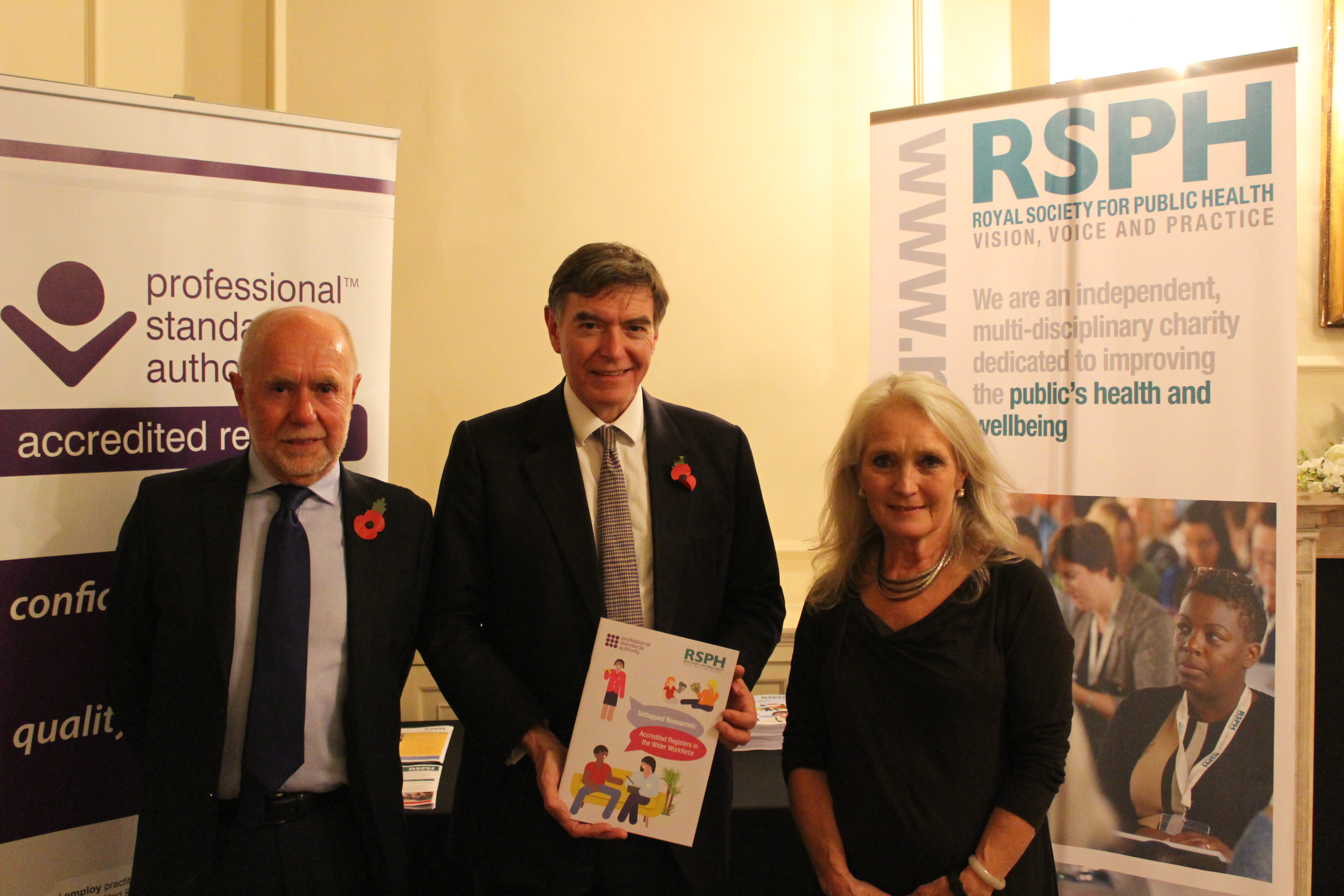 Untapped resources launch George with the Minister and RSPH