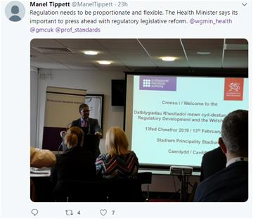 Welsh seminar tweet February 2019