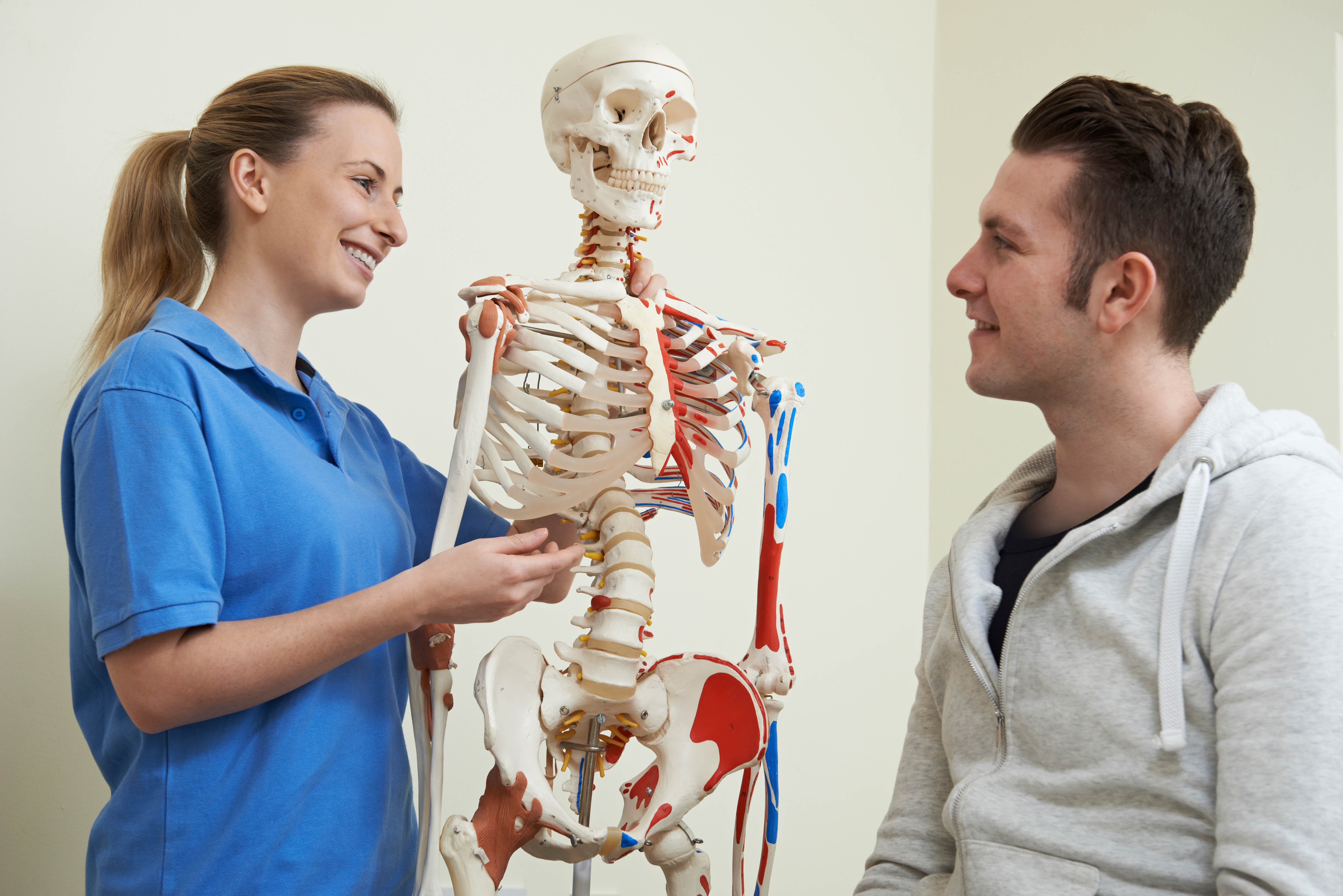 Osteopath treating their patient